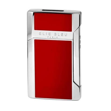 elie bleu pocket lighter plano red lacquer eliebleu