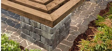 patio blocks benches and patio on