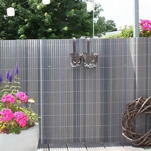 Balkon Sichtschutz Kunststoff Grau : pvc sichtschutzzaun mit montageset ~ Bigdaddyawards.com Haus und Dekorationen