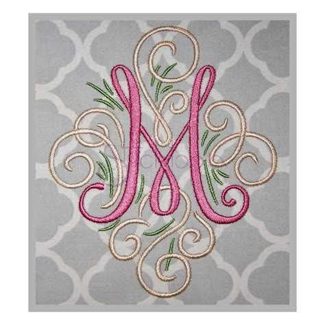 machine embroidery font adorn monogram stitchtopia