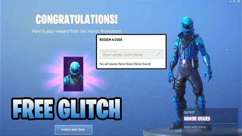 honor guard fortnite skin glitch code exploit