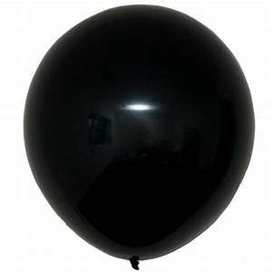 Giant Black Latex Balloon 2 Feet 60 cm Candle & Cake