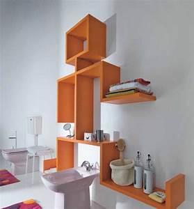 etagere salle de bain un bain d39idee pour faire le bon With salle de bain design avec plaque décorative métal