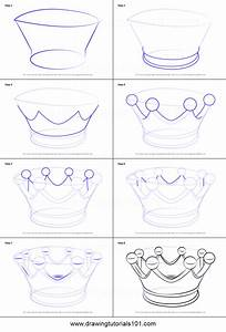 How To Draw A Crown For Kids Printable Step By Step