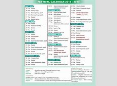 Indian calendar 2017 with holidays and festival 2019