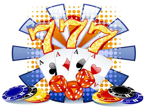 Casino Clipart Illustration With Casino Elements Backgrounds