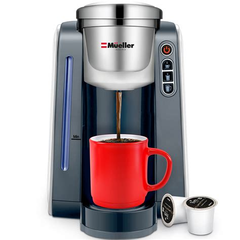 They're quick and convenient and do away with all the fiddling about that you'd experience with a more sophisticated espresso machine. Mueller Ultima Single Serve K-Cup Coffee Maker, Coffee Machine with Five Brew Sizes for Most ...