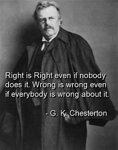 425) Wisdom fro... Gk Chesterton Food Quotes