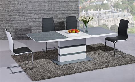 grey and white dining table argento large extending dining table grey and white