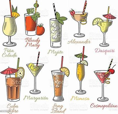 Cocktails Famous Illustrations Vector Drink Illustration Bloody