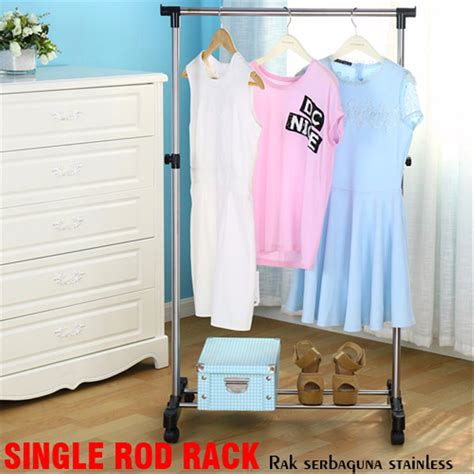 Rak Sepatu Gantung Bandung jual rak baju gantung sepatu shoes cloth single rod rack