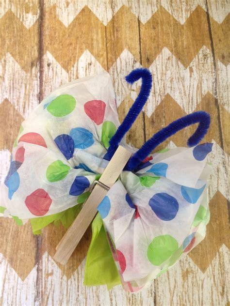 diy tissue paper butterflies life family joy