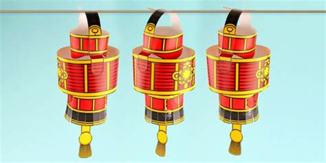 chinese  year simple  paper lantern decoration