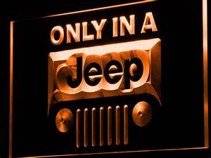 Jeep ly in A Jeep LED Neon Sign