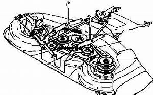 belt deck diagram craftsman 42 mower belt free engine With craftsman lt1000 clutch diagram also with craftsman 50 inch mower deck