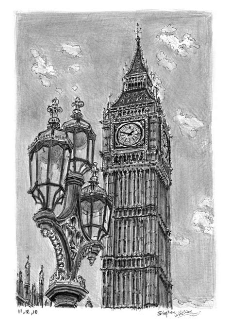 Big Ben - Original drawings, prints and limited editions