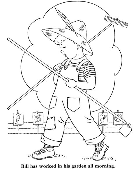 bluebonkers boy coloring pages boy   garden