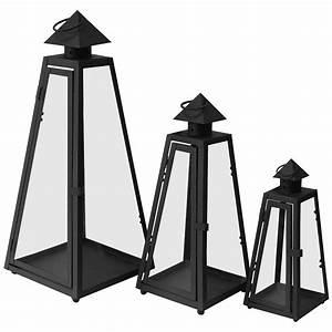 3er set laterne gartenlampe gartenlaterne windlicht metall With französischer balkon mit große laternen für den garten