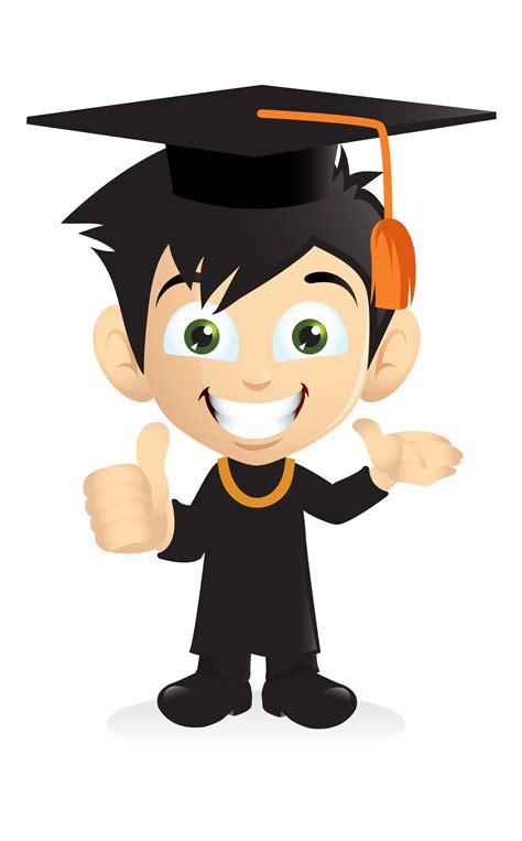 graduation clipart cartoon character pencil   color