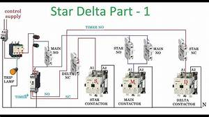 Star Delta Connection In Motor Diagram