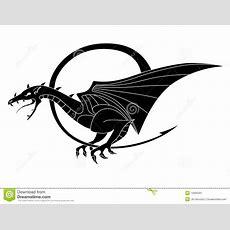 Simple Isolated Illustration Of Black Dragon Stock Illustration  Image 12905591
