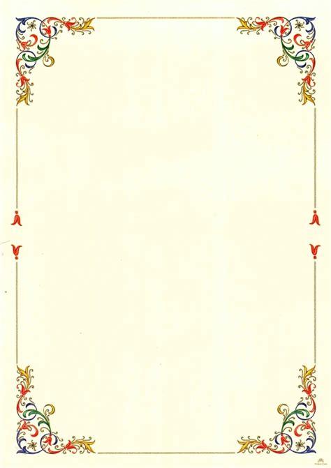 Cornici Con by Carta Pergamena Da Colorare Bordi E Cornici