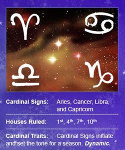 qualities cardinal quality article  astrologycom