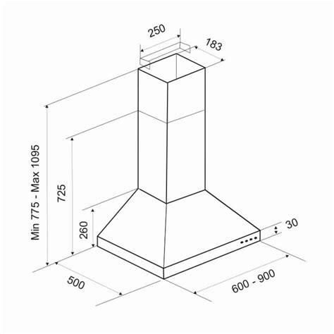 hauteur de la hotte de cuisine hauteur hotte aspirante hauteur maximum d une hotte