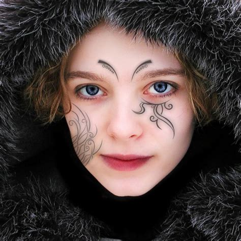 Face Tattoo Designs For Girls