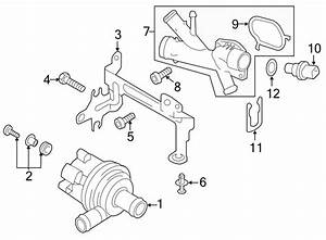 6r0965561a - Engine Auxiliary Water Pump  Cooling  System  Side