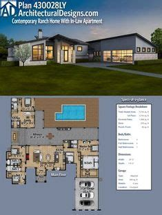 plan ly  bed modern house plan  upstairs