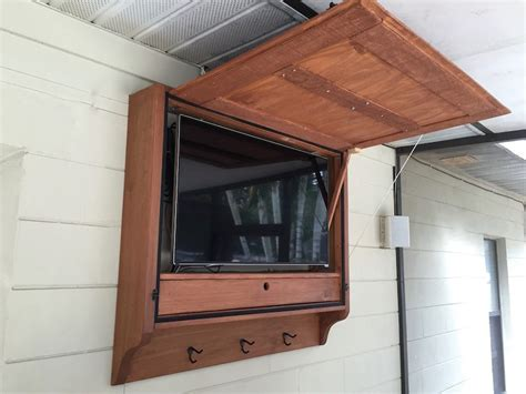 outdoor tv wall mount cabinet here are our plans for an outdoor tv cabinet we built for