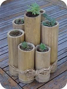 Bambou A Planter : pot naturel en bambou id e d co fabriquer loisirs ~ Premium-room.com Idées de Décoration