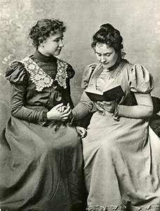 Anne Sullivan Reading to Helen Keller, Radcliffe College ...