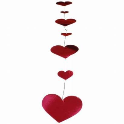 Vertical Heart Hanging Foil Garland Hearts 2x
