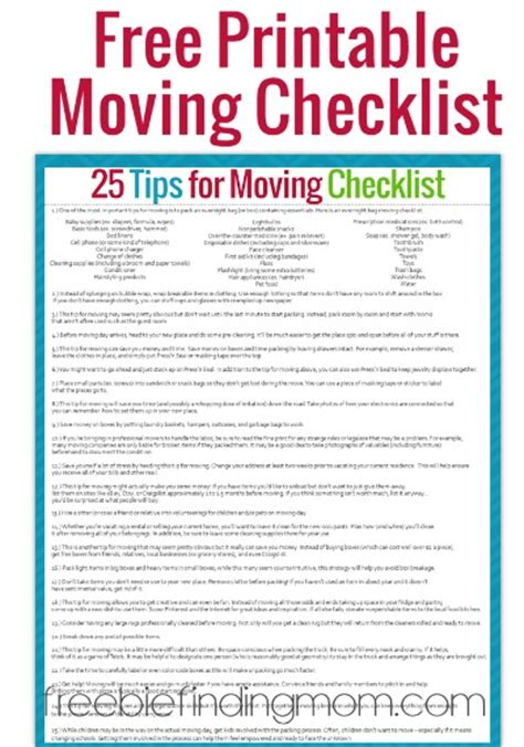 moving checklist template tips for moving plus a free printable moving checklist