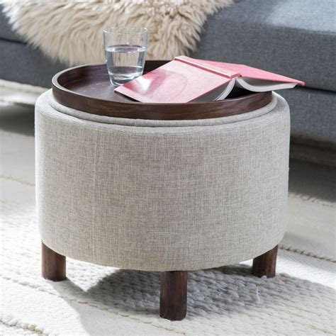 round storage ottoman with tray best 25 round storage ottoman ideas on pinterest shoe