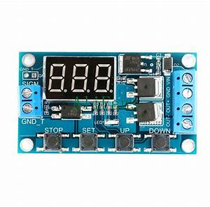 12v 24v Trigger Cycle Timer Delay Switch Circuit Board Mos
