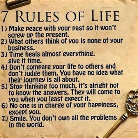 Seven Rules Of Life  Life Sayingsquotes  Pinterest Of