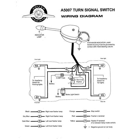 1950 Gm Headlight Switch Wiring Diagram by Chrome Plated Turn Signal Switch United Pacific