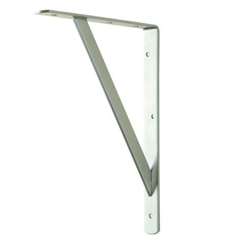 shelf brackets home depot everbilt 12 in x 8 in white heavy duty shelf bracket
