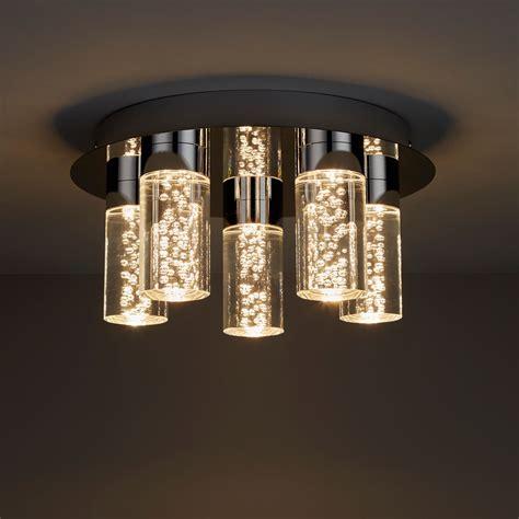 hubble chrome effect 5 l bathroom ceiling light departments diy at b q