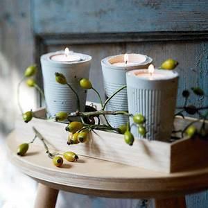 Basteln Mit Plastikbecher : deko aus beton sch n in form gegossen beton pinterest ~ Orissabook.com Haus und Dekorationen
