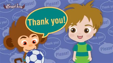 Learn To Say Please And Thank You ! ♫ Children Songs (winged Lion) Youtube