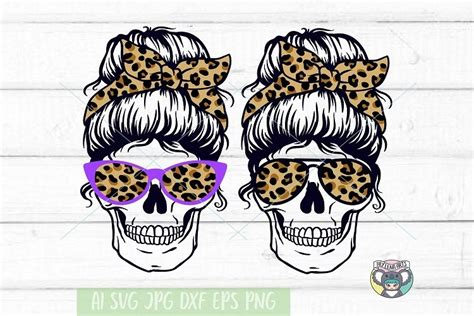 Svg can be used with: Messy Bun svg, Halloween svg, Skull svg, Cricut Cut Files ...