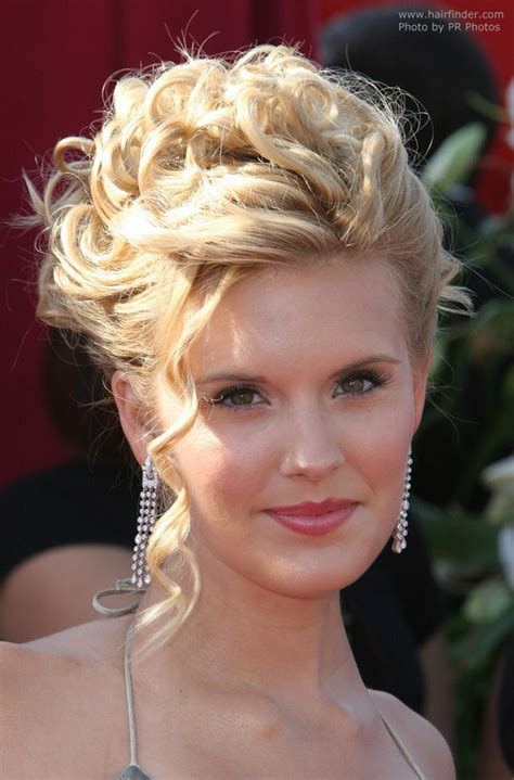 Hair Pictures by Maggie Grace With Hair In An Updo With Tendrils And