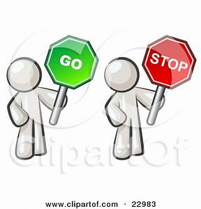 Stop And Go : clipart illustration of a pink man holding a red stop sign by leo blanchette 30562 ~ Medecine-chirurgie-esthetiques.com Avis de Voitures