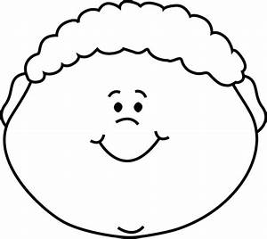 Black and White Little Boy Happy Face Clip Art - Black and ...