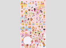 Kokeshi Doll animal calendar stickers from Japan Animal