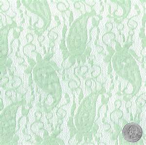 wedding dress jackets paisley green mint light lace fabric by the yard table